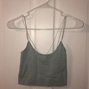 baby blue urban outfitters crop top